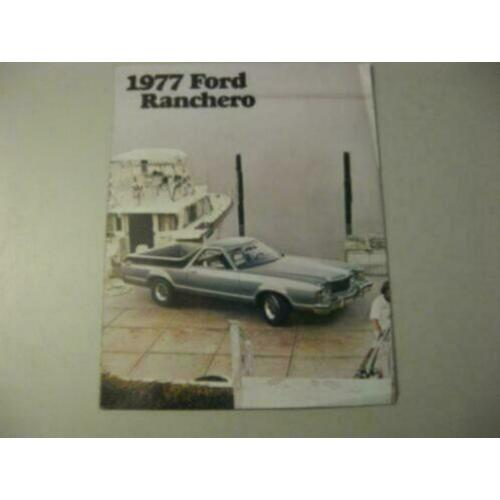 1977 Ford Ranchero Brochure USA