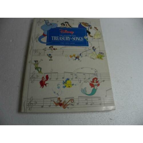 disney The illustrated treasury of songs --70 liedjes disney