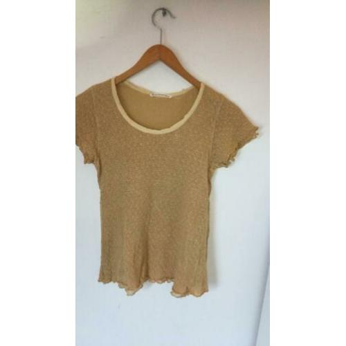 November shirt top geel maat M zgan