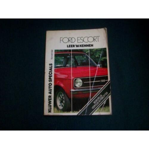 Ford escort leer m kennen boek 102-4926