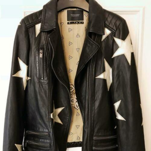 Maison Scotch and Soda Biker Leather/Leren Jacket NIEUW S