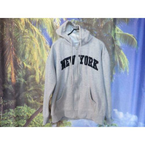 grijs hoodie sweat vest mt l New York Popular